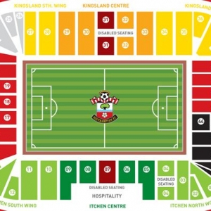 Plattegrond St. Mary's Stadion